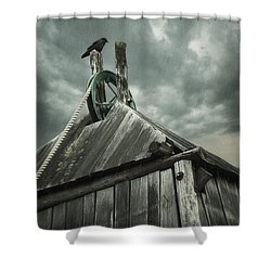 Dark Days Shower Curtain by Amy Weiss