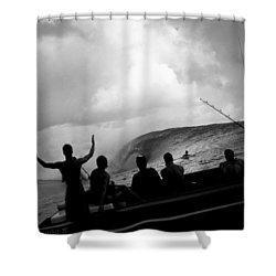 Dark Menace Shower Curtain by Sean Davey