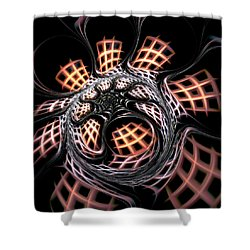 Dark Side Shower Curtain by Anastasiya Malakhova