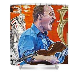 Dave Matthews The Last Stop Shower Curtain by Joshua Morton