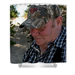 Dave's Smile Shower Curtain by Joseph Yarbrough