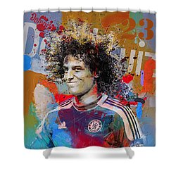 David Luiz Shower Curtain by Corporate Art Task Force