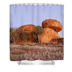 Dawn Devils Marbles Northern Territory Shower Curtain by Colin and Linda McKie
