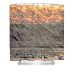 Dawn Liftoff Shower Curtain by Steven Ralser