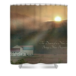 Dawn Shower Curtain by Lori Deiter