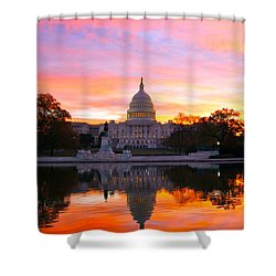 Dawn Shower Curtain by Mitch Cat
