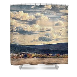 Dawson City Shower Curtain by Priska Wettstein