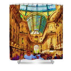 Day At The Galleria Shower Curtain by Jeff Kolker