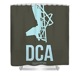 Dca Washington Airport Poster 1 Shower Curtain by Naxart Studio