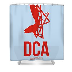Dca Washington Airport Poster 2 Shower Curtain by Naxart Studio