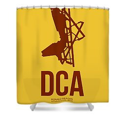 Dca Washington Airport Poster 3 Shower Curtain by Naxart Studio