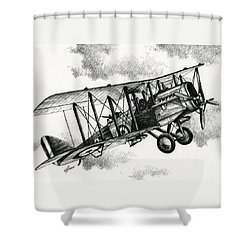 De Havilland Airco Dh.4 Shower Curtain by James Williamson