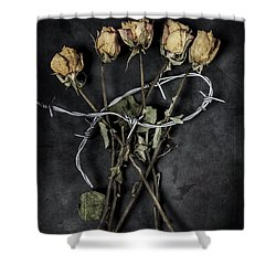Dead Roses Shower Curtain by Joana Kruse