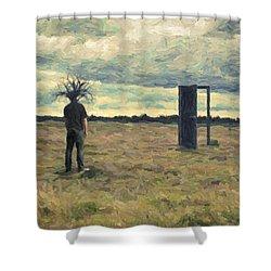 Dead Zone Shower Curtain by Taylan Apukovska