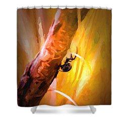 Deadly Shower Curtain by Jon Burch Photography