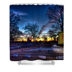 Deadly Silence    Shower Curtain by Reid Callaway