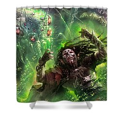 Death's Presence Shower Curtain by Ryan Barger