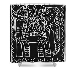 Decorated Elephant Shower Curtain by Caroline Street