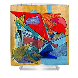 Decorative Interior Art Abstract Shower Curtain by Olga Sheyn
