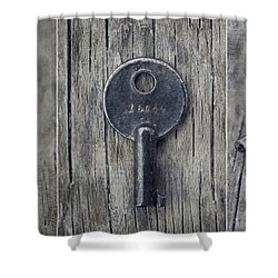 decorative vintage keys I Shower Curtain by Priska Wettstein