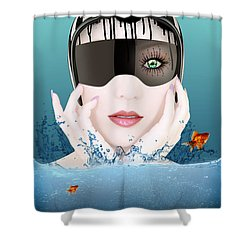 Deep Inside  Shower Curtain by Mark Ashkenazi