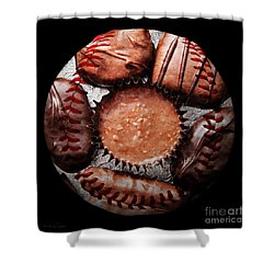 Deep Rich Chocolates Baseball Square Shower Curtain by Andee Design
