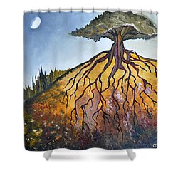 Deep Roots Shower Curtain by Cedar Lee