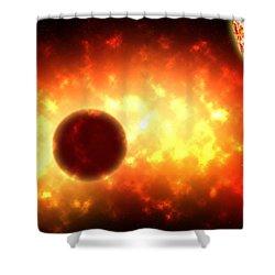 Deep Space Activity Digital Painting Shower Curtain by Georgeta Blanaru