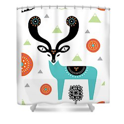 Deery Mountain Shower Curtain by Susan Claire