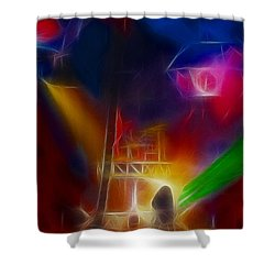 Def Leppard-adrenalize-gf10-fractal Shower Curtain by Gary Gingrich Galleries