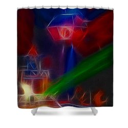 Def Leppard-adrenalize-gf12-fractal Shower Curtain by Gary Gingrich Galleries