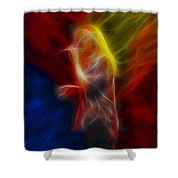 Def Leppard-adrenalize-joe-ga25-fractal Shower Curtain by Gary Gingrich Galleries