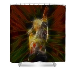 Def Leppard-adrenalize-joe-gb22-fractal-1 Shower Curtain by Gary Gingrich Galleries