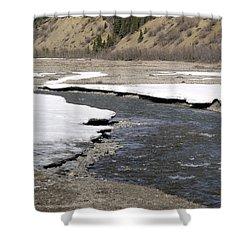 Denali Area River  Shower Curtain by Tara Lynn