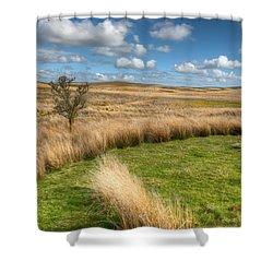 Denbigh Moors Shower Curtain by Adrian Evans