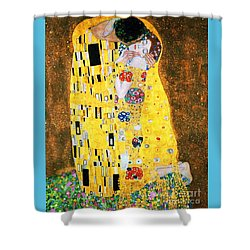 Der Kuss Or The Kiss By Gustav Klimt Shower Curtain by Pg Reproductions