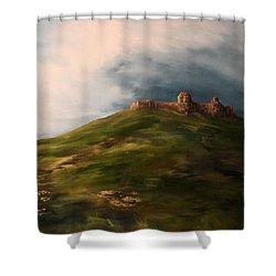 Deralict Chartley Castle Staffordshire Shower Curtain by Jean Walker