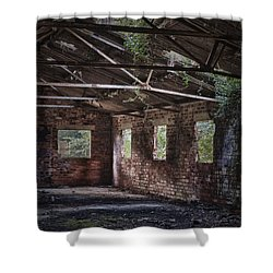 Derelict Building Shower Curtain by Amanda And Christopher Elwell