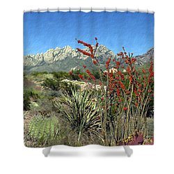 Desert Bloom Shower Curtain by Kurt Van Wagner