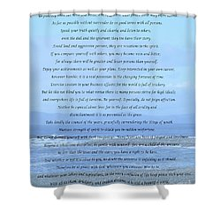 Desiderata On Beach And Ocean Scene Shower Curtain by Barbara Griffin