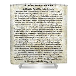 Desiderta Poem On Tuscan Marble Shower Curtain by Desiderata Gallery