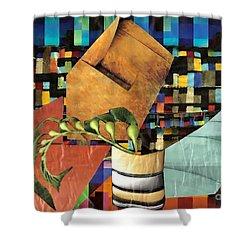 Designer Twig Shower Curtain by Sarah Loft