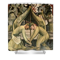 Detroit Industry  South Wall Shower Curtain by Diego Rivera