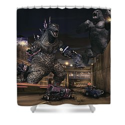 Detroits Zoo Shower Curtain by Nicholas  Grunas