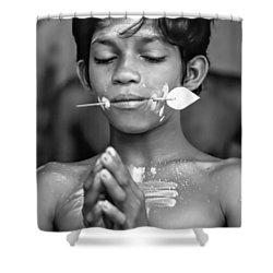 Devotion Bw Shower Curtain by Steve Harrington