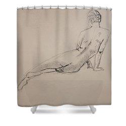 Diagonal Form Shower Curtain by Sarah Parks