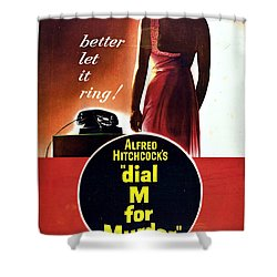 Dial M For Murder - 1954 Shower Curtain by Georgia Fowler
