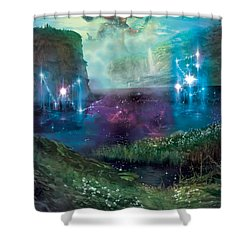 Dictate Of Kruphix Promo Shower Curtain by Ryan Barger