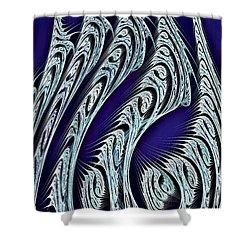 Digital Carvings Shower Curtain by Anastasiya Malakhova