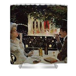 Dinner At Les Ambassadeurs Shower Curtain by  Jean Beraud